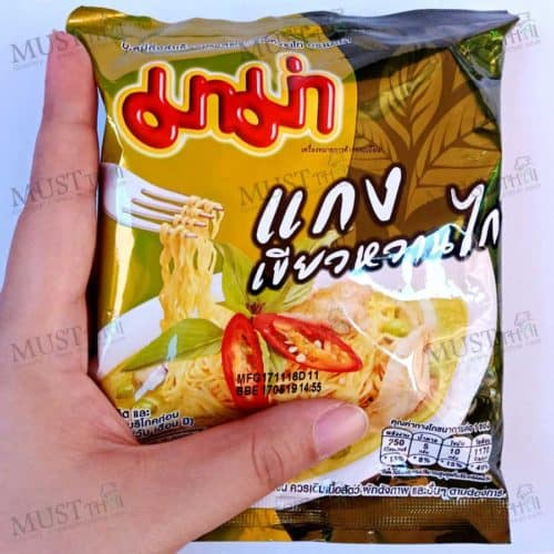 MaMa Instant Noodles Chicken Green Curry Flavor