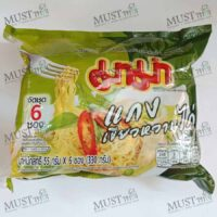 MaMa Instant Noodles Chicken Green Curry Flavour 55g pack of 6
