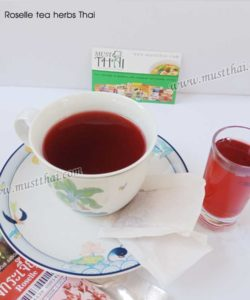 Roselle Herbal Tea Natural no sugar added - Abhaibhubejhr (Pack of 10 Tea bags)