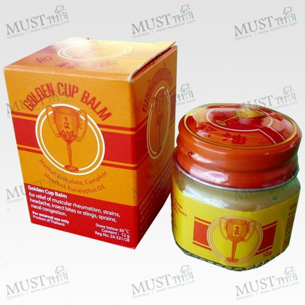 Golden Cup Balm Thai Ointment Herbal Massage 12g