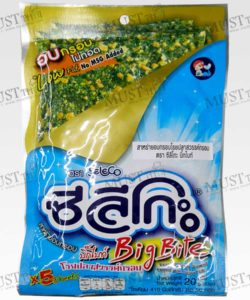Seleco Big Bite Roasted Crispy Seaweed Topped with Crispy Fish 20g Thai