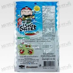 Taokaenoi Big Sheet Crispy Fried Seaweed Sea food Flavor 3.5 g