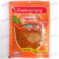 "Pla-Duk-Fu Chili Flake Dried crushed chili ""Thai Derm"" Brand"