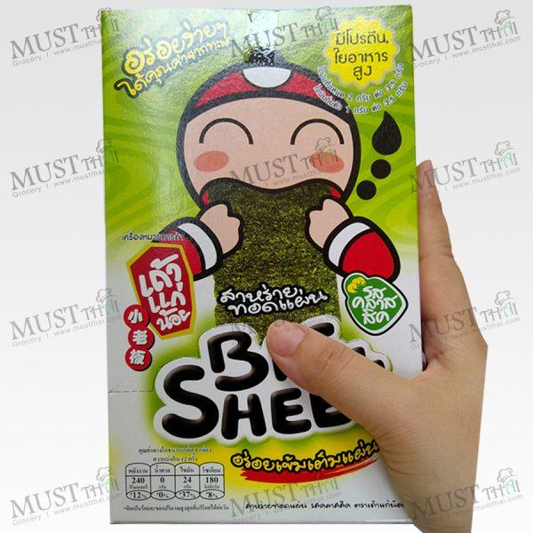 Big Sheet Seaweed Classic Flavor - Taokaenoi (Box / 3.5gx12)
