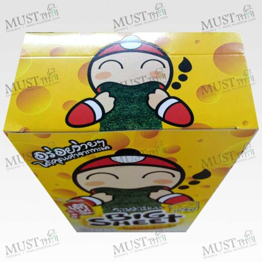 TaoKaeNoi Big Sheet Seaweed Cheese Flavouri (Box / 3.5gx12)