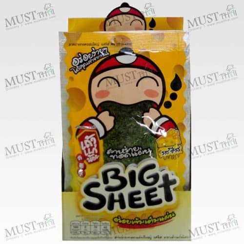TaoKaeNoi Big Sheet Seaweed Cheese Flavouri (Box / 3.5gx12)