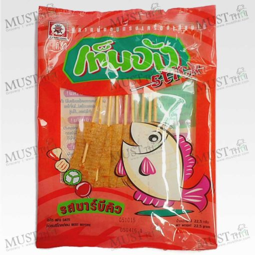 Barbecue Flavour Seasoned Baked Fish Sheet Stick - Ten Jang (22.5g)