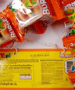 Yupi Mini Burger Mixed Fruits Flavour Gummy Candies 160 g