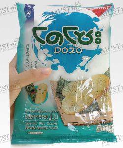 Japanese Rice Cracker Seaweed Flavour – Dozo (56 g.)