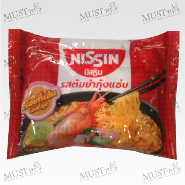 Instant Noodle Tom Yum Kung Saep Flavour - Nissin (60 g.)