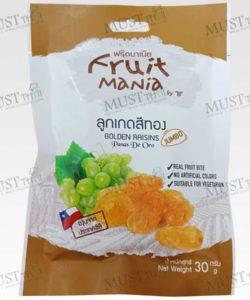 Fruit Mania Golden Raisins Jumbo (pasas de oro) Grape from Chile.