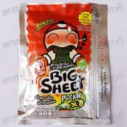 Taokaenoi Big Sheet x8 Crispy Fried Seaweed Hot&Spicy Flavor