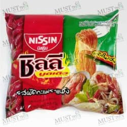 Nissin Chili Noodles Stir-Fried Holy Basil Flavour