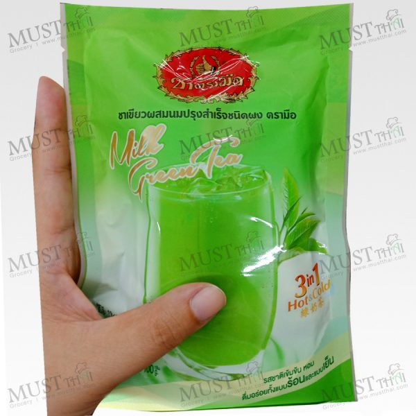 Chatramue 3in1 Green Milk Tea Hot & Cool 100 g Pack of 5 Sachets