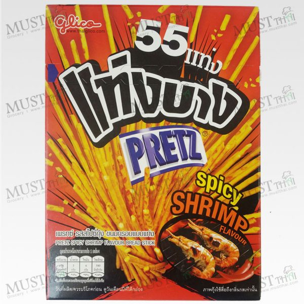 Pretz slim rods,the tasty, Spicy Shrimp Flavoured crunchy Biscuits