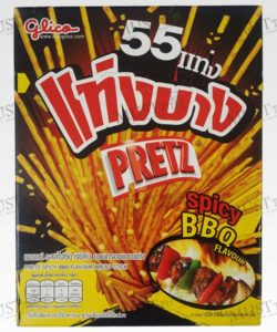 Pretz slim rods,the tasty, spicy BBQ flavored crunchy Biscuits