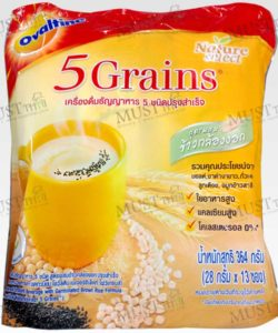 Ovaltine Natureselect 5 Grains Instant Malt Cereal Beverage pack of 13 sachets