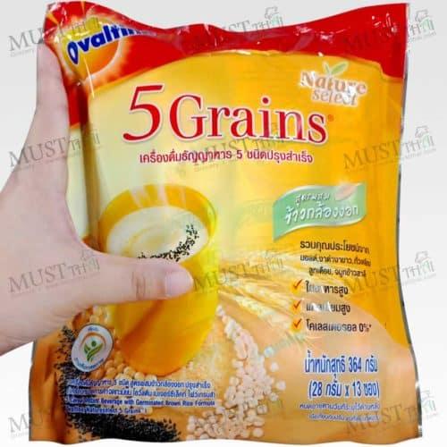 Ovaltine Natureselect 5 Grains Instant Malt Cereal Beverage pack of 13 sachets
