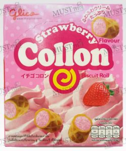 Glico Collon Biscuit Roll Strawberry Flavour (54g)