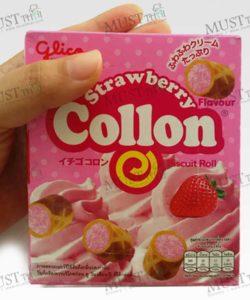 Glico Collon Biscuit Roll Strawberry Flavour (54g)