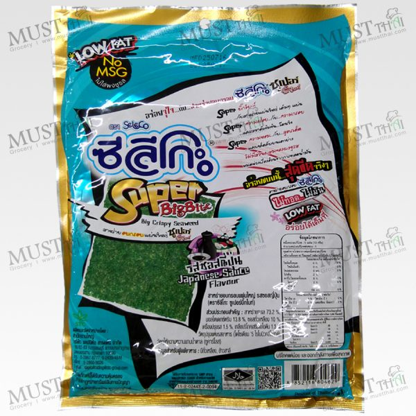 Seleco Super Big Bite Japanese Sauce Flavour Big Crispy Seaweed 13g Thai