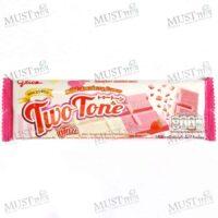 Glico Two Tone Milk & Strawberry Flavour Confectionery 31g