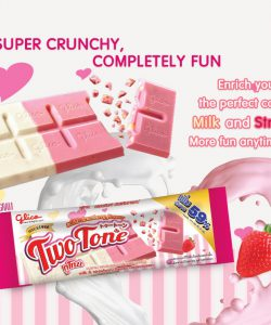 Milk & Strawberry Flavour Confectionery - Two Tone (31g)