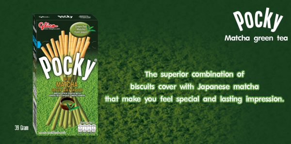 Glico Pocky Matcha Green Tea Flavour Biscuit Stick