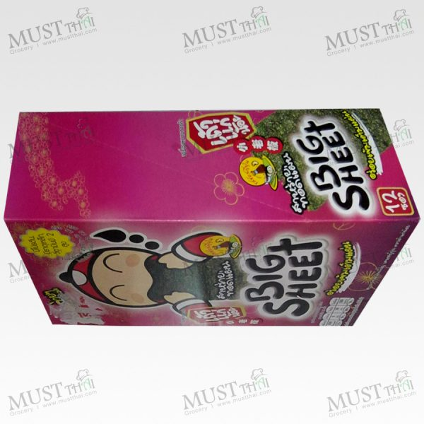 Big Sheet Seaweed Japanese Sauce Flavor - Taokaenoi (Box /3.5gx12)