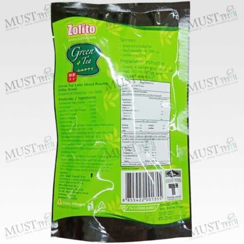 Zolito Low sugar formula.. Zolito Green Tea Latte Pack 3 sachets