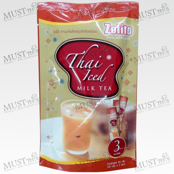 Zolito Thai Iced Milk Tea 90g 30x3 Sachets Thai