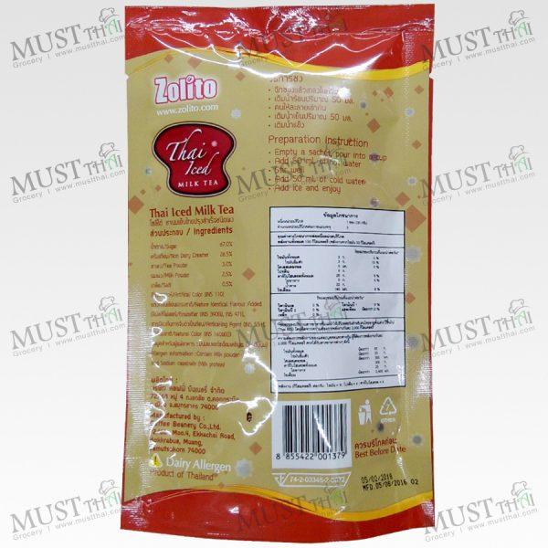 Zolito Thai Iced Milk Tea 90g 30x3 Sachets Thai