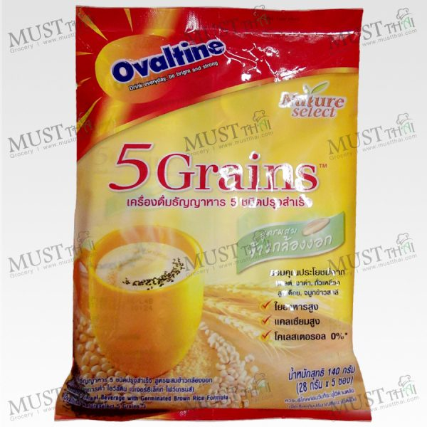 Natureselect 5 Grains Instant Malt Cereal Beverage - Ovaltine 140g (28g x 5pcs)