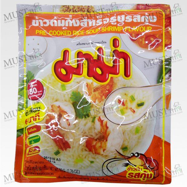 Mama Shrimp Flavour Pre-Cooked Rice Soup 50g
