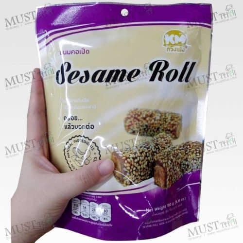 Thai Classic Desserts Sesame Roll KMsnack 180g Thai