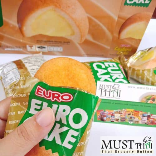 Euro Custard Cake Puff Cake and Sweet Custard Cream box of 12