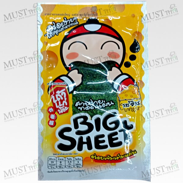 Taokaenoi Big Sheet Crispy Fried Seaweed Cheese Flavour 3.5 g