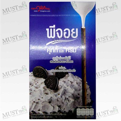 Glico Pejoy Cocoa Cookie Stick with Vanilla Milk Flavour Confectionery 39g