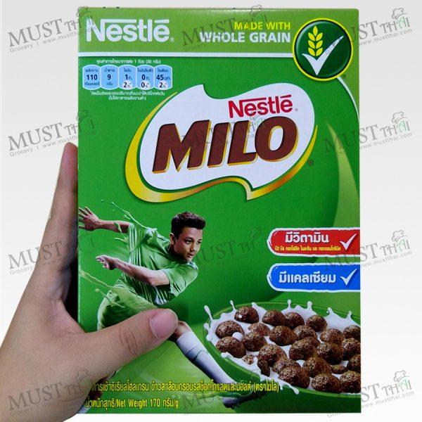 Milo Chocolate and Malt Flavoured Whole Grain Wheat Balls Breakfast Cereal 170g