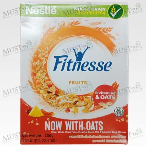 Nestle Fitnesse Crispy Whole Wheat Flakes Breakfast Cereal with Blend of Fruits 230g