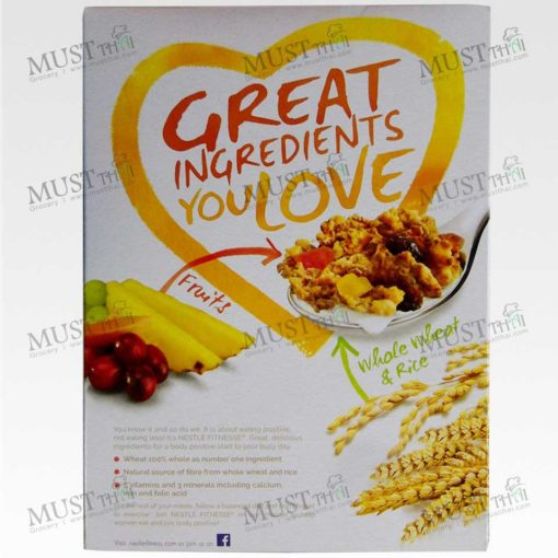 Crispy Whole-Wheat Flakes Breakfast Cereal with Blend of Fruits - Nestlé Fitnesse (240g)