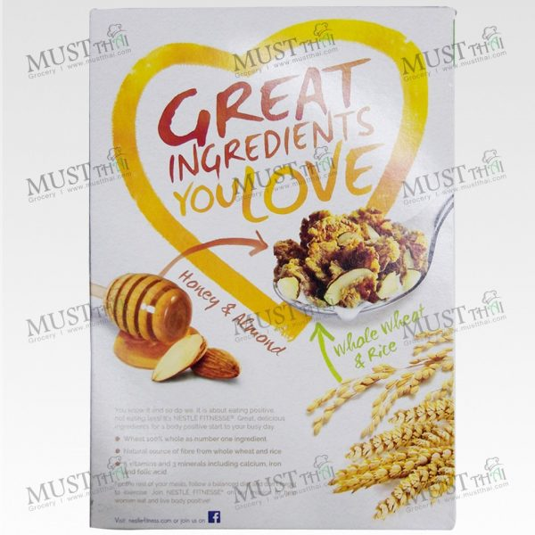 Crispy Whole Wheat Flake Covered in Honey with Toasted Almond - Nestlé Fitnesse (225g)