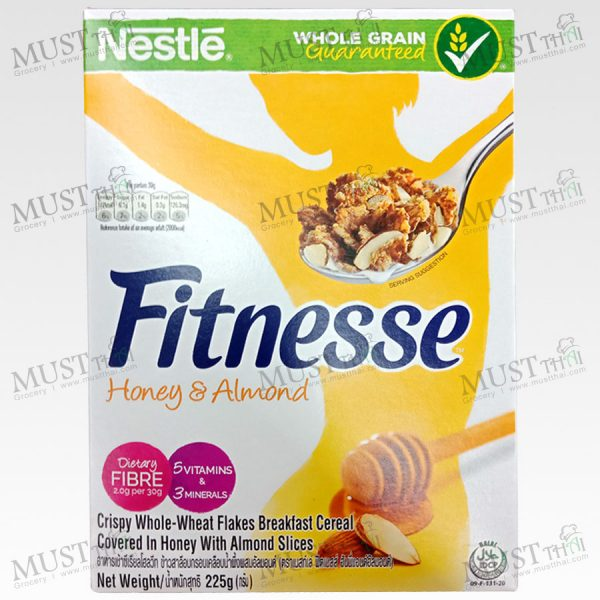 Nestlé Fitnesse Crispy Whole Wheat Flake Covered in Honey with Toasted Almond 225 g