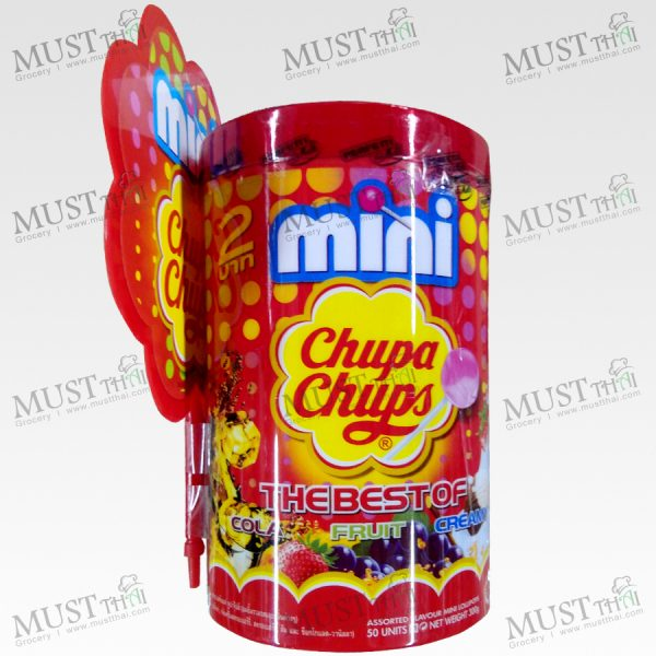 Mini Chupa Chups Lollipops Cola Strawberry flavour