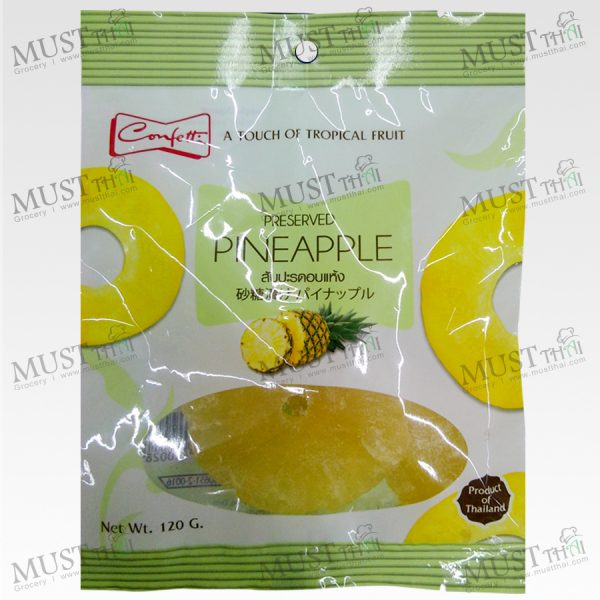 Confetti Preserved Dried Pineapple 120g Thai