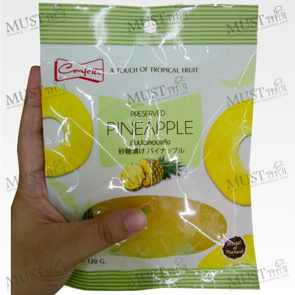 Confetti Preserved Dried Pineapple 120g Thai