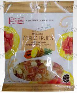 Confetti Preserved Mixed Fruits pineapple and papaya 120g Thai