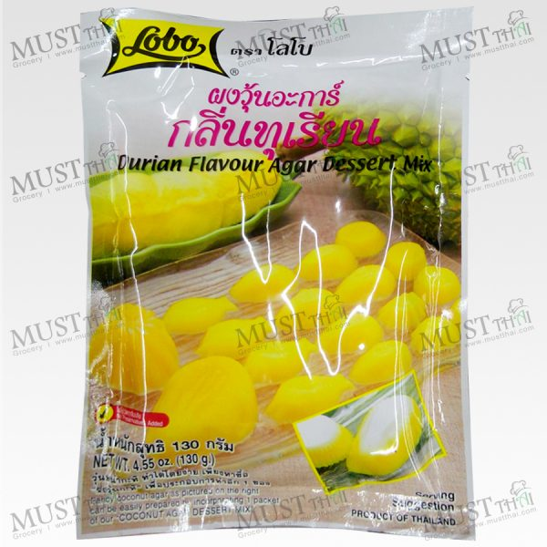 Lobo Durian Flavour Agar Dessert Mix Powder