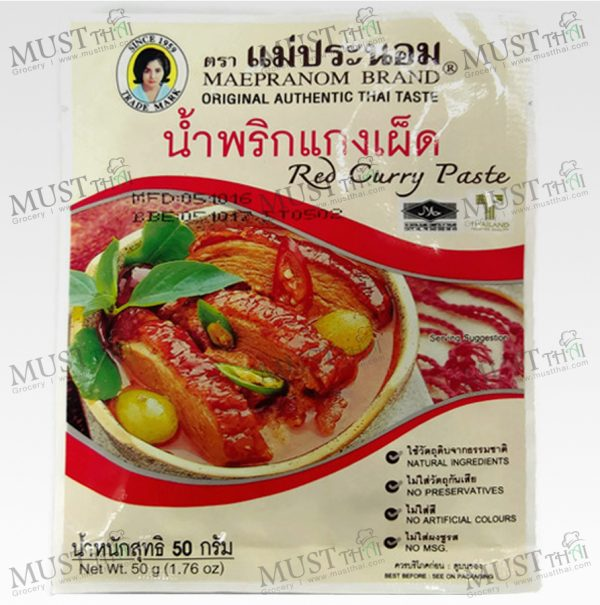 Mae Pranom Red Curry Paste 50g Thai