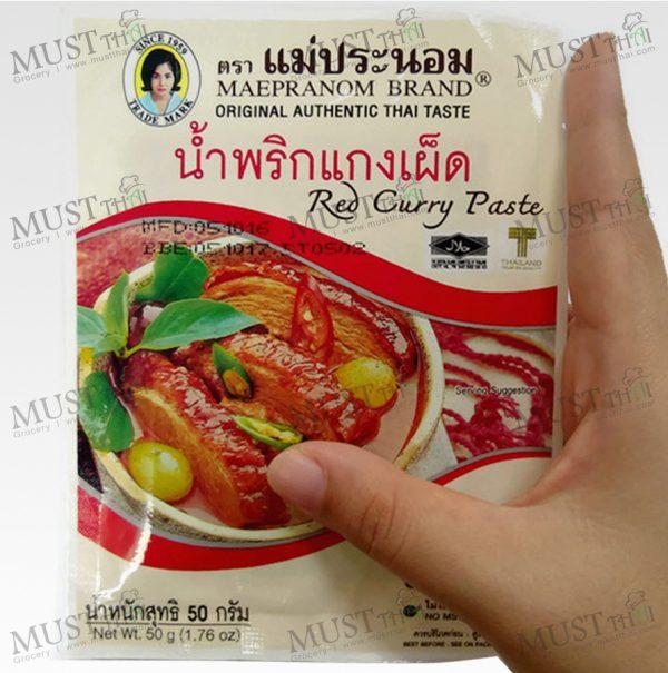 Mae Pranom Red Curry Paste 50g Thai